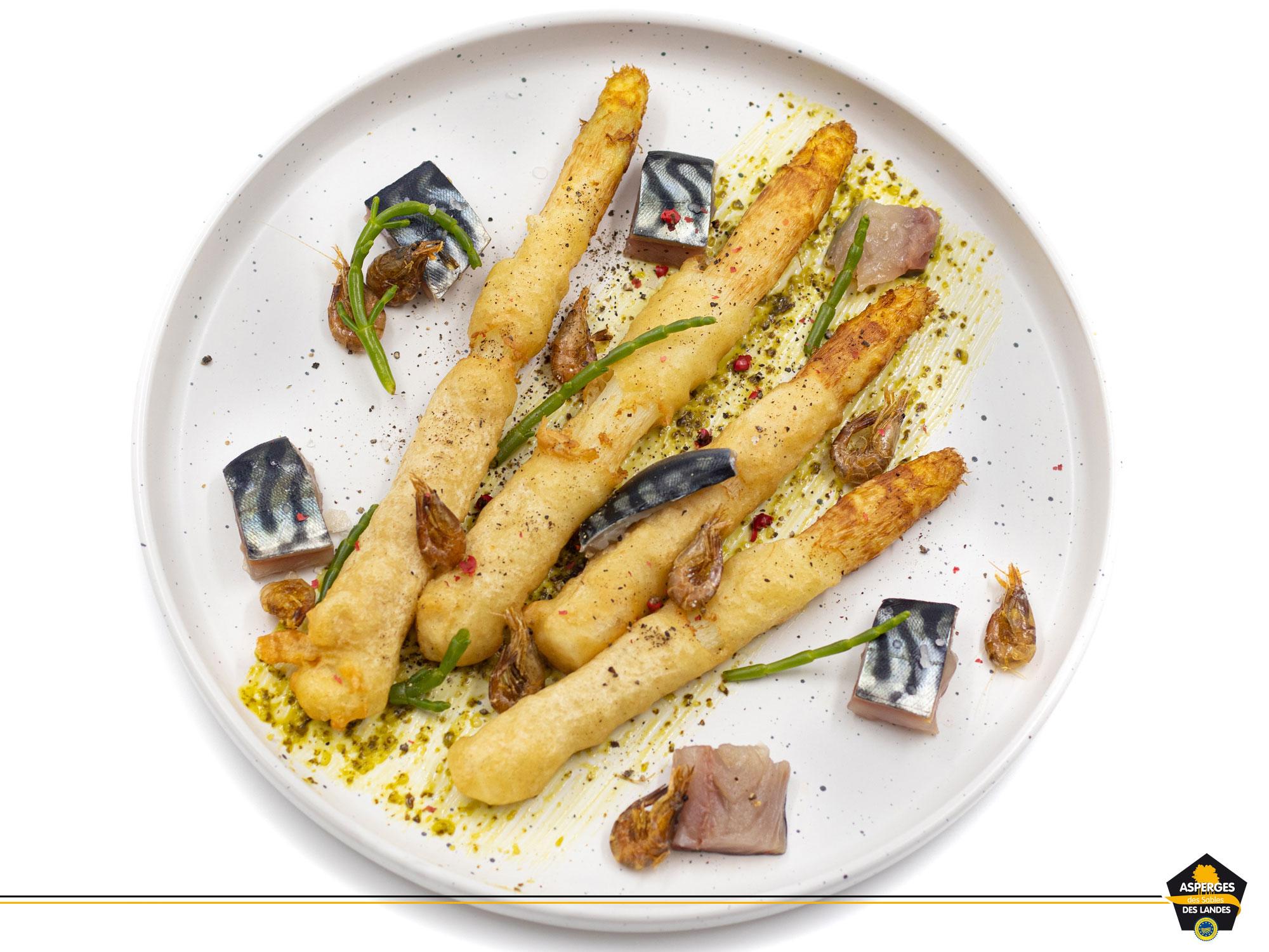 Recette de Fish and Chips Asperge des Sables des Landes et maquereau
