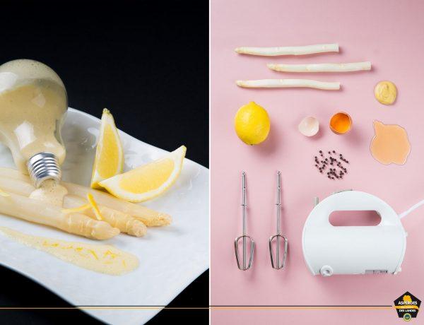 Asperge des Sables des Landes et sauce mousseline au citron