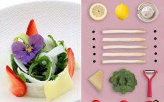 Recette de petite salade roquette et Asperge des Sables des Landes