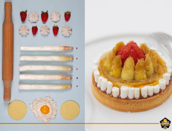 Tartelette aux asperges des sables des Landes et fraises